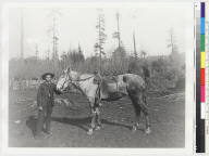 Karuk (?) man, with horse