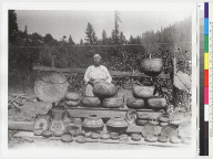 Woman and baskets