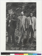 Left to Right: Sam Batwi, A.L. Kroeber, Ishi
