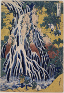 Kirifuri Waterfall on Kurogami Mountain, Shimotsuke Province, from A Tour of Waterfalls in the Provinces