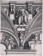 The Prophet Ezekiel, from a series of Seers after Michelangelo's frescoes in the Sistine Chapel