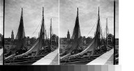 Ships (etc.) at Le Croasic [Le Croisic], Fance.
