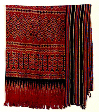 """Textile, """"pore lonjong""""?, funeral shroud or wall hanging. Indonesia"""