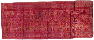 Textile, waist cloth, ceremonial decoration. Indonesia