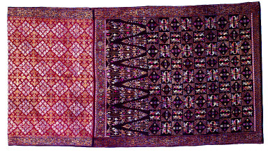 Textile, chair covering. Indonesia
