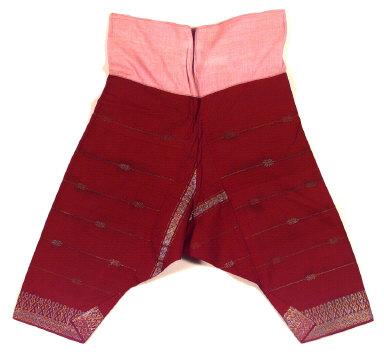 Textile, man's pants. Indonesia