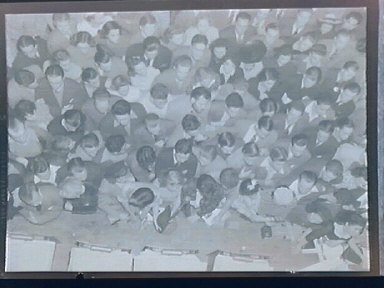 """""""Culture""""& Education 1.) Milhaud, Leger, Maurois seated before Leger painting 2.) Sweet's ballroom - Young people just before the war listening to jazz 3.) Oakland Technical High School"""