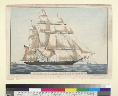 """The American clipper ship """"Witch of the Wave"""""""