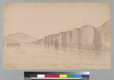 [Basalt, Columbia River below Memaloose Island, looking up, Oregon/Washington]