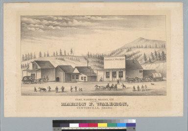 Store, warehouse, granary, etc. of Marion F. Waldron, Centerville, Idaho