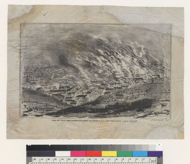 View of the conflagration from Telegraph Hill, San Francisco [California], June 22d, 1851