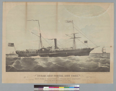 Steam ship Cortes, 1800 tons, of the New York & California Steam Ship Company