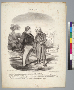 [Scene relating to financial speculations in California around 1851]