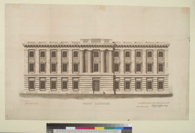 Front elevation: Customs House, San Francisco, Cal[iforni]a