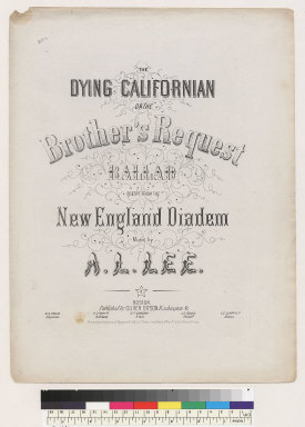 The dying Californian, or the brother's request ballad [A. L. Lee]