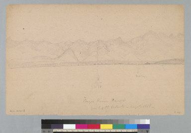 Frazier River Range from e[ast] of P[oin]t Roberts, August 1858 [Washington/Canada]