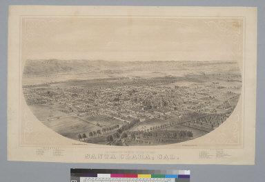 Bird's-eye view of Santa Clara, Cal[ifornia]