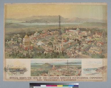 Official bird's-eye view of the California Midwinter International Exposition, San Francisco, California