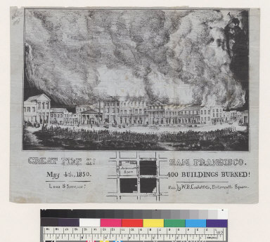 Great Fire in San Francisco, May 4th, 1850: 400 buildings burned [California]