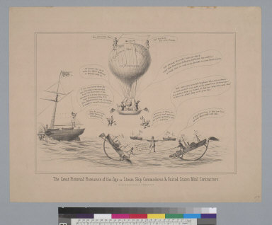 The great pictorial romance of the age or steam ship commodores & United States mail contractors