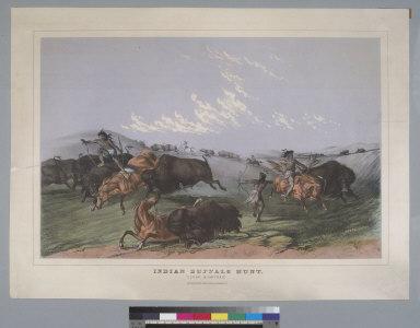 "Indian buffalo hunt: ""close quarters"""