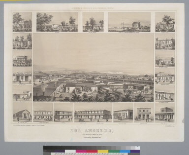 Los Angeles, Los Angeles County, Cal[ifornia] 1857