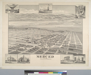 View of Merced, Cal[ifornia], 1888
