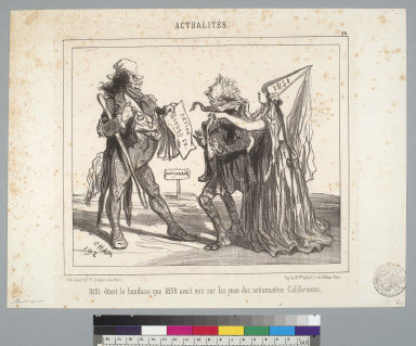 [Scene relating to financial speculations in California in 1851]