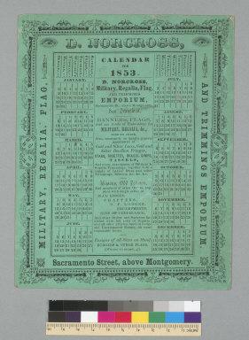 D. Norgross: calendar for 1853