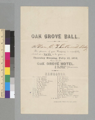 Oak Grove ball [invitation]