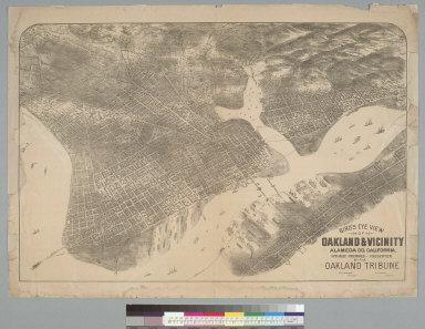 Bird's-eye view of Oakland & vicinity, Alameda Co[unty] California
