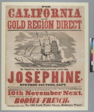 """[Packet ship """"Josephine"""" to California advertisement]"""