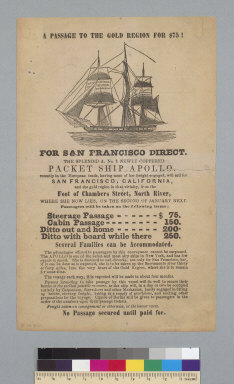 """[Advertisement for packet ship """"Apollo""""]"""