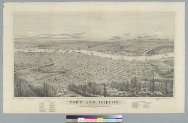 Portland, Oregon, showing also East Portland and the Cascade Mountains
