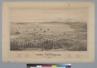 Bird's-eye view of Port Townsend, Puget Sound, Washington Territory, from the northeast, 1878