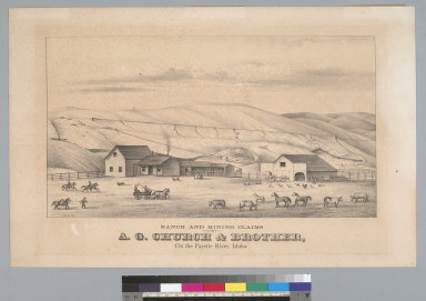 Ranch and mining claims of A. G. Church & brother, on the Payette River, Idaho