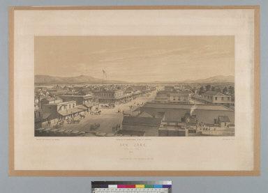 San Jose, [California] from City Hall, 1858