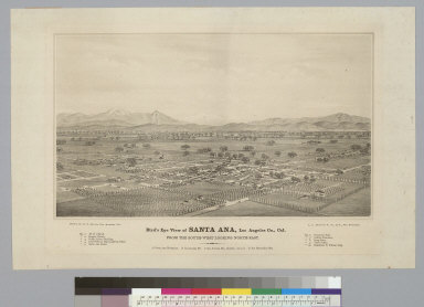 Bird's-eye view of Santa Ana, Los Angeles Co[unty], Cal[ifornia]: from the southwest looking northeast