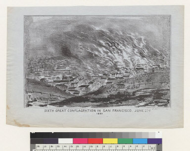 Sixth great conflagration in San Francisco [California] June 22[n]d, 1851