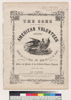 The song of the American volunteer [T. G. Spear, C. G. St. Clair]
