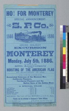 Ho for Monterey, special announcement S.P.Co. [Southern Pacific Company]