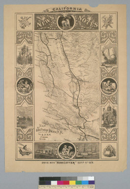 [California News Notes: map, Southern Pacific R.R. connecting with the C.P.R.R at Goshen, Sept. 5, 1876]