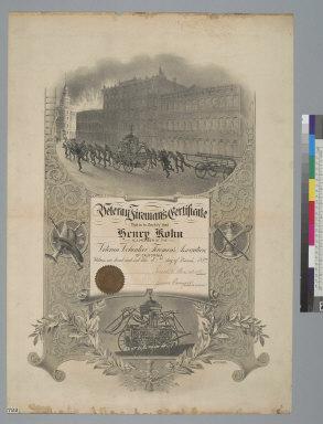 Veteran fireman's certificate