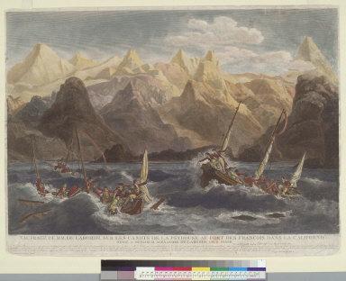 [Shipwreck of the Astrolabe's yawl at Port des Francais, Lituya Bay, Alaska, on July 13, 1786]
