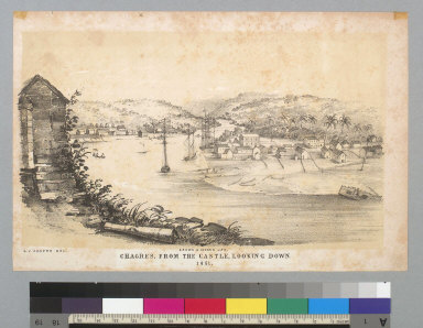 Chagres, from the castle, looking down, 1851 [Panama]