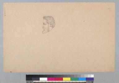 [Portrait head in profile]