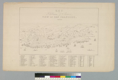 Key to Robinson & Snow's view of San Francisco [California], 1864