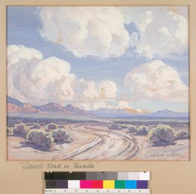 Desert Road in Nevada
