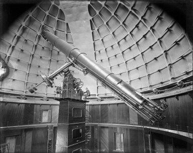 Telescope at Lick Observatory, Mt. Hamilton. [negative]