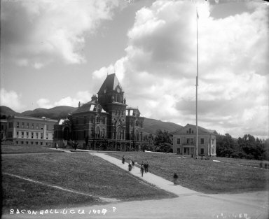 """Bacon Hall, U.C., CA, 1904?"" University of California at Berkeley. [negative]"
